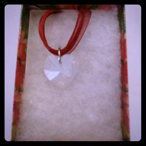North Pole Opal Crystal Heart Necklace
